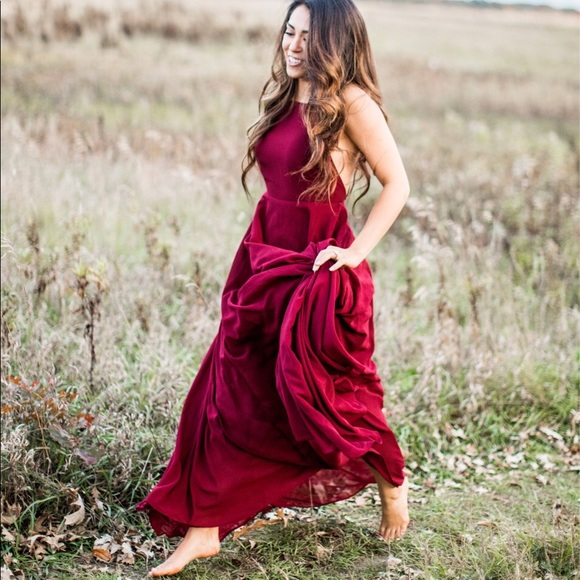 a92399d0d0f Lulu's Dresses & Skirts - Lulus mythical kind of love wine red maxi dress